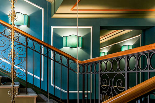 Sconces by SERVOMUTO seen at Hotel Grand Bellevue, Gstaad - Easy Wall Collection