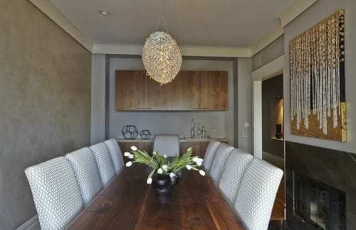Chandeliers by Jim Misner Light Designs seen at Private Residence, San Francisco, CA, San Francisco - Slipper