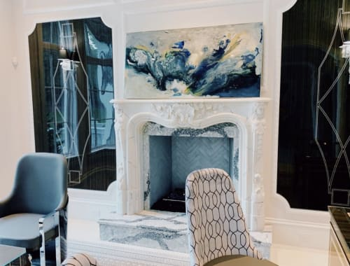 Paintings by ADELAIDE seen at Private Residence, Atlanta - Eye of the Storm