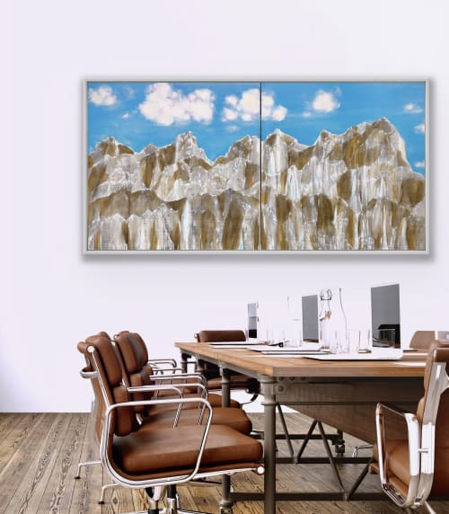 """Paintings by Lindsay Dew seen at Private Residence, Nelson - """"Untitled"""""""