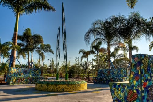 Public Mosaics by Carlos Alves & JC Studios seen at Verde Garden, Homestead - Verde Gardens