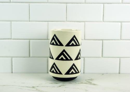 Cups by OVMI Ceramics seen at Creator's Studio, Borden - Ceramic Tumbler with Pyramid Print