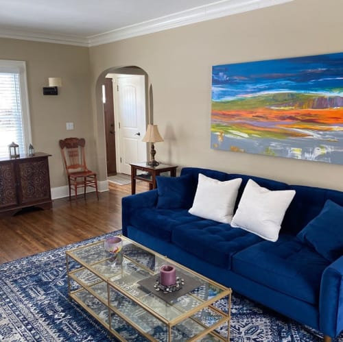 Paintings by Rita Dungey seen at Private Residence, Bryn Mawr - Landscape Painting