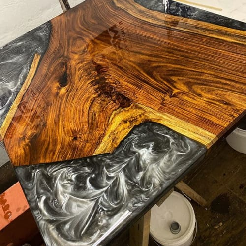 Interior Design by The Evolution of Tables seen at Private Residence, Davie - Live Edge Furniture