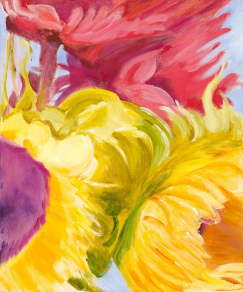 Sunshine in a Petal   Paintings by Shirley Bavonese   Sweetwaters Coffee & Tea Washington St. in Ann Arbor