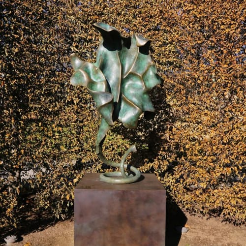 "Sculptures by Sally Pettus seen at Private Residence - ""Odyssey"" 