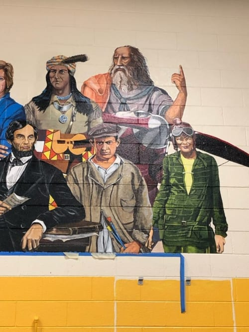 Murals by Mural Art Designs seen at Falcon Elementary School of Technology, Peyton - Leave a Legacy Mural