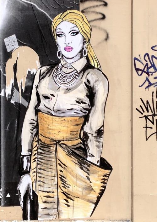Street Murals by Suriani Art seen at Paris, France, Paris - Pearl Liaison