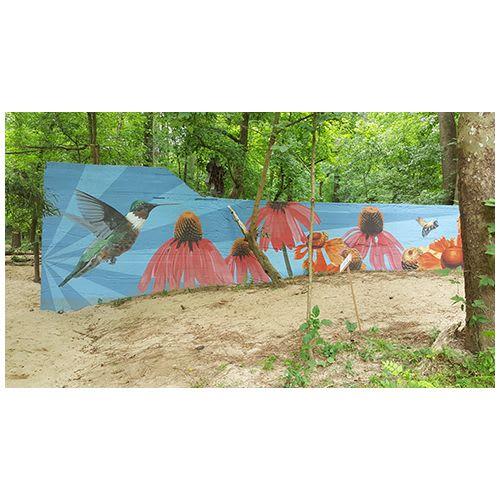 Street Murals by Alison Hamil Art seen at Blue Heron Nature Preserve, Atlanta - Georgia Pollinator Garden