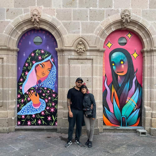 Street Murals by Mugre Diamante seen at Morelia, Morelia - Mural