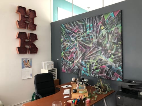 Paintings by Max Ehrman (Eon75) seen at Private Office in North Beach, San Francisco, San Francisco - Crystal City