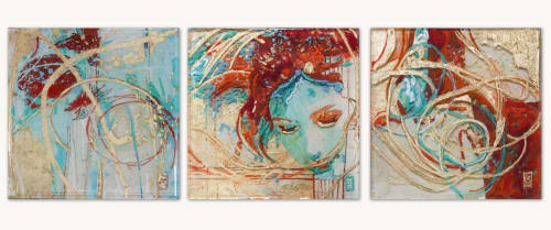 Wall Hangings by Art of Lisa Sofia seen at Private Residence, Seaside - Desert Wind Trio