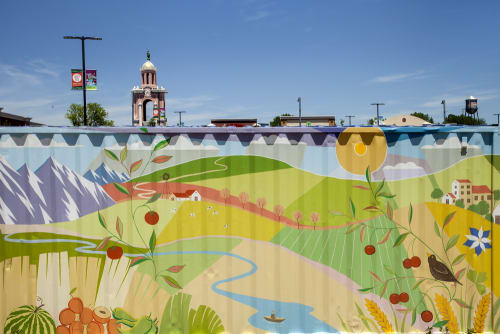 Street Murals by Yulia Avgustinovich seen at West Colfax Avenue, Lakewood - Farmers Market Mural in Lakewood