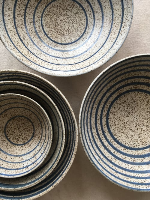 Ceramic Plates by Jessie Lazar, LLC seen at Private Residence | New York City, NY, New York - striped collection