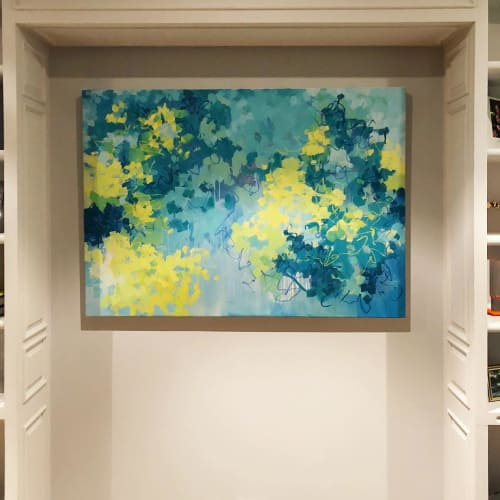 "Paintings by Cameron Schmitz seen at Private Residence, New York - ""Garden Bloom"""