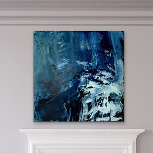 Paintings by Erzsebet Nagy Saar seen at Private Residence, Vienna - Stormy Changes II