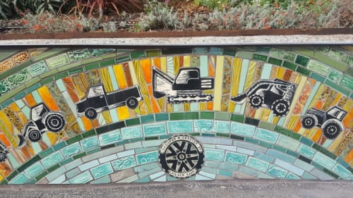 Tiles by Aileen Barr seen at Tunnel Top Park, San Francisco - Tunnel Top Park Seating Walls