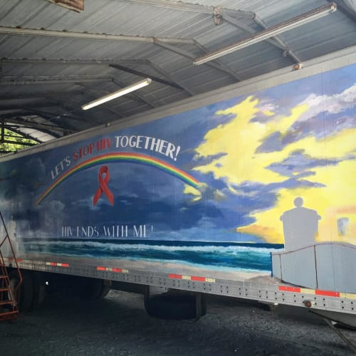 Murals by Murals by Georgeta (Fondos) seen at Cliff Berry, Inc., Fort Lauderdale - Art To End AIDS
