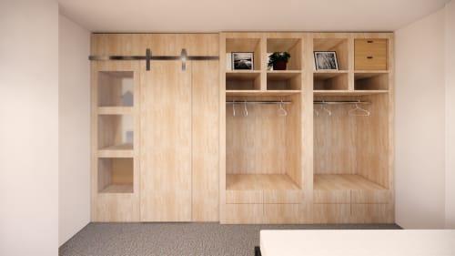 Interior Design by Studio Hiyaku seen at Private Residence, Zetland - Joinery Shelving