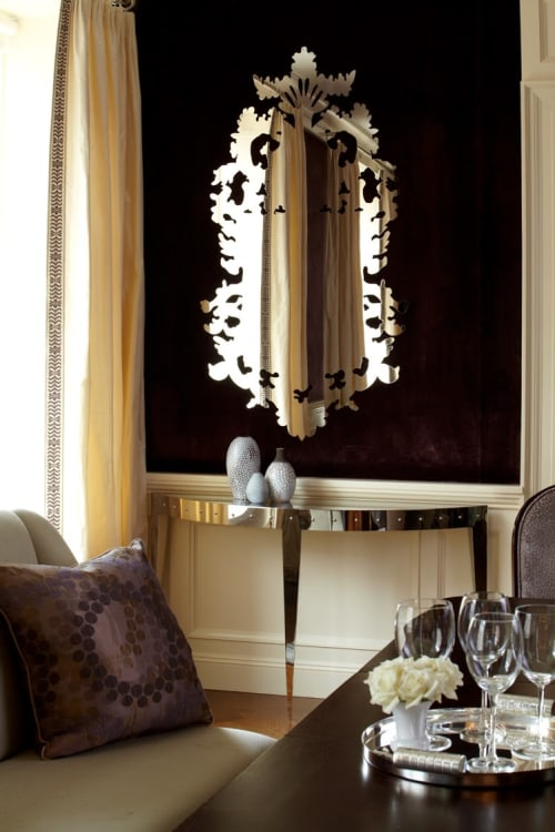Wall Hangings by John Lyle seen at Private Residence - West End Ave, New York - Modern Antique Mirror