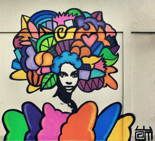 Street Murals by Alloyius Mcilwaine Art seen at 1 Avenue de l'Abbé Roger Derry, Vitry-sur-Seine - Afro Power Mural