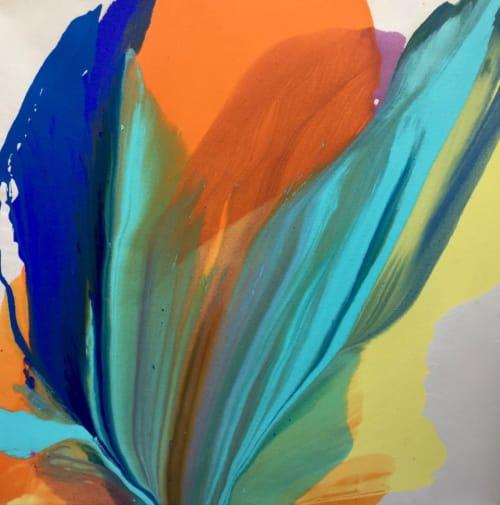 Paintings by Barbara Januszkiewicz, Colorfield artist seen at Falls Church, Falls Church - Share the Love