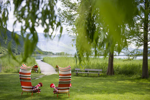 Chairs by Moroso seen at Seehotel Ambach, Campi Al Lago - Chairs