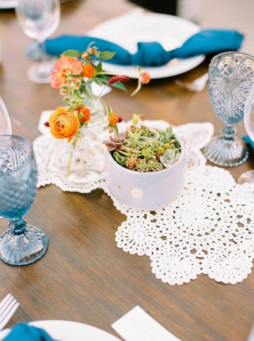 Vases & Vessels by Muds Ceramics seen at Higuera Ranch, San Luis Obispo - Custom Wedding Centerpiece