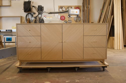 Furniture by Moniker Design seen at Private Residence, San Diego - Custom Credenza