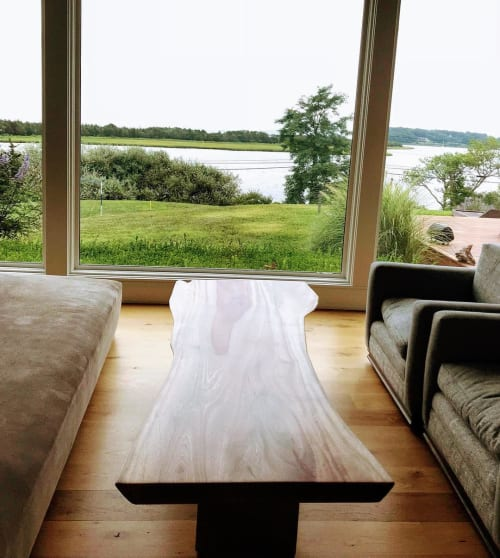 Tables by From the Source seen at Private Residence, Shelter Island - Ingas Slab Coffee Table