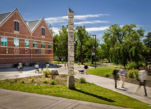 Public Sculptures by Benjamin Ball seen at Central Washington University, Ellensburg - Secondhand Geology