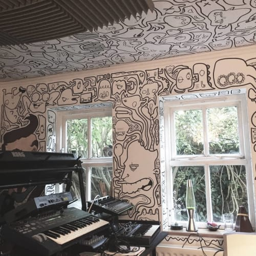 Murals by Frankie Curtis seen at Peterborough, Peterborough - Indoor Mural