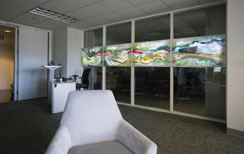 Paintings by Sri Prabha Artlab seen at The Law Offices of Wang & Wang, San Francisco - Cosmic Rivers