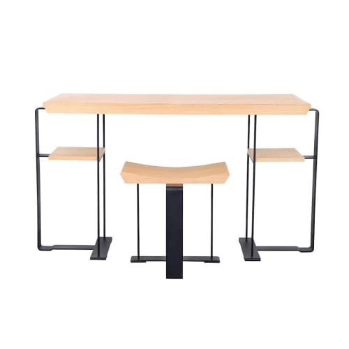 Tables by Edition Modern seen at Private Residence, Los Angeles - DALSACE desk and stool