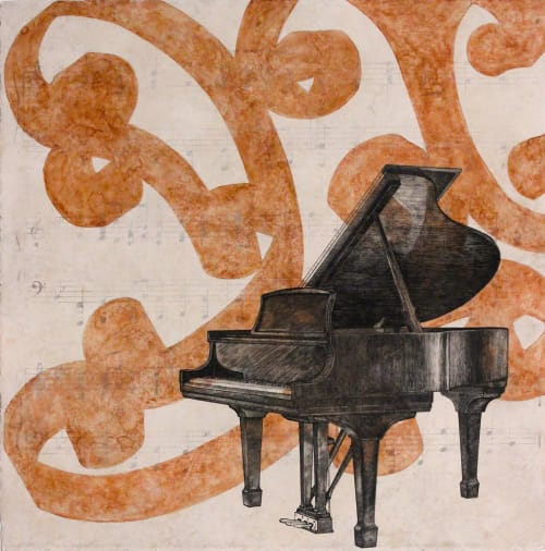 Paintings by Paul Flippen at The Elizabeth Hotel, Autograph Collection, Fort Collins - Piano