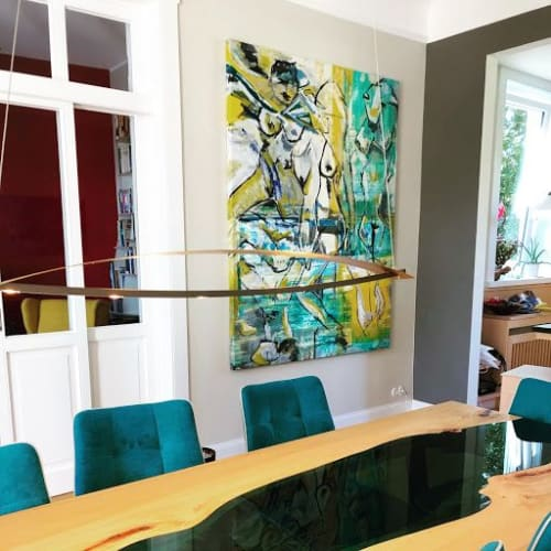 Paintings by Shuk Orani seen at Private Residence, Hamburg - Abstract Painting