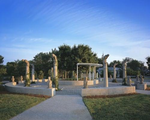Public Sculptures by Leslie Fry seen at South Burlington, South Burlington - Pomerleau Neighborhood Park