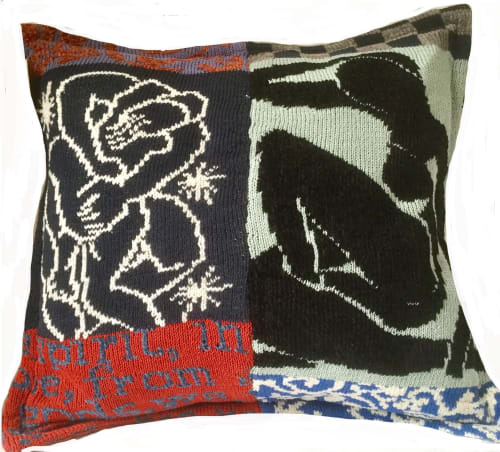 Pillows by Penny Burdett Designer Knitwear seen at Private Residence, Stockholm - Mostly Matisse ArtKnit Pillow