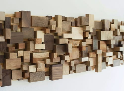 "Sculptures by Modern Art Woodworks seen at Private Residence, Atlanta - No. 043 ""CIUDAD DE AMOR (NUDE)"""