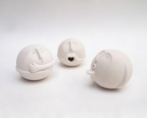 """Sculptures by Aman Khanna (Claymen) seen at Claymen, New Delhi - """"Affection"""""""