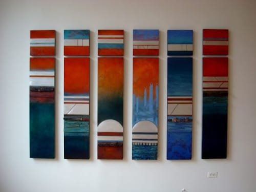 Paintings by Helene Steene seen at Private Residence, Lexington - Paros Coves Series