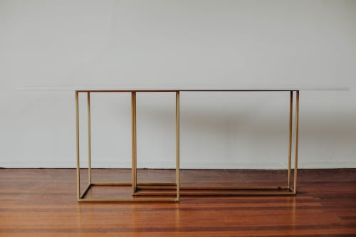 Tables by Hegi Design House seen at Private Residence, Sydney - Vega Table