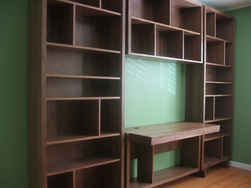 Furniture by Jason Lees Design seen at Private Residence, San Francisco - Custom JLD Bookcase with built-in Desk