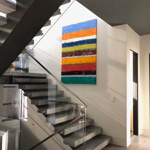 Paintings by Bibby Art seen at Private Residence, Mill Valley - Portals of Discovery
