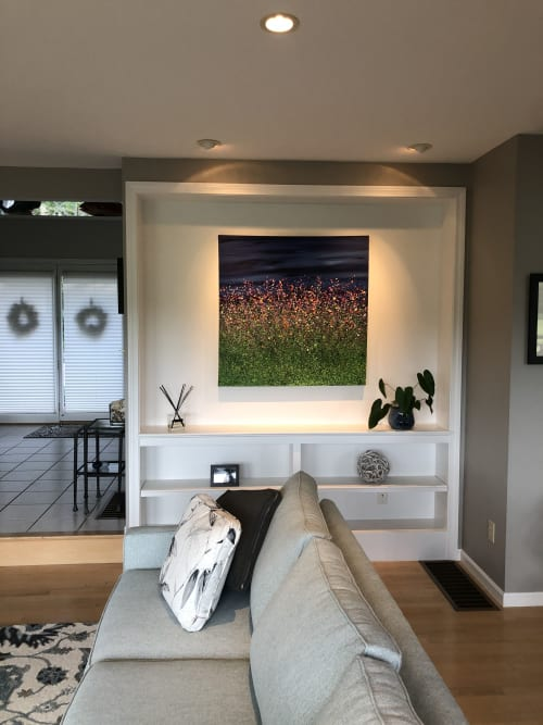 Paintings by Lucy Moore Arts seen at Private Residence - A Midnight Flourish