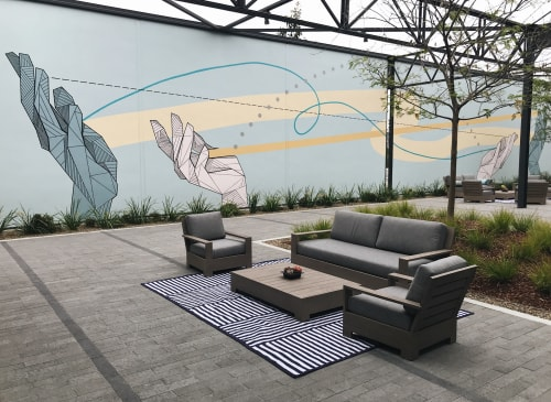 Murals by Allison Kunath seen at 555 aviation, El Segundo - Share