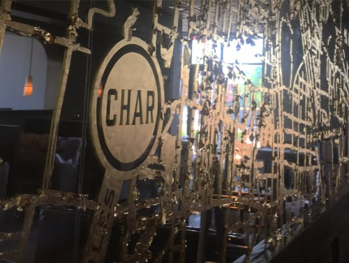 Murals by I Saw The Sign seen at Char Restaurant, Nashville - Gilded Map