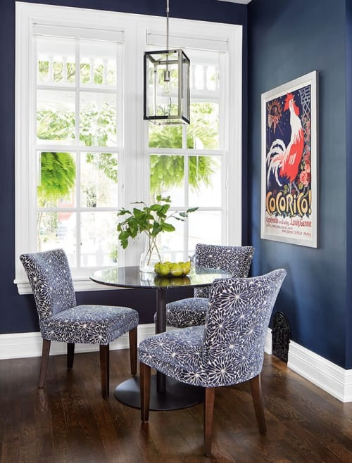 Interior Design by Jacklynn Little Interiors seen at Private Residence, Toronto - Victorian Style Home gets a COLORFUL update.