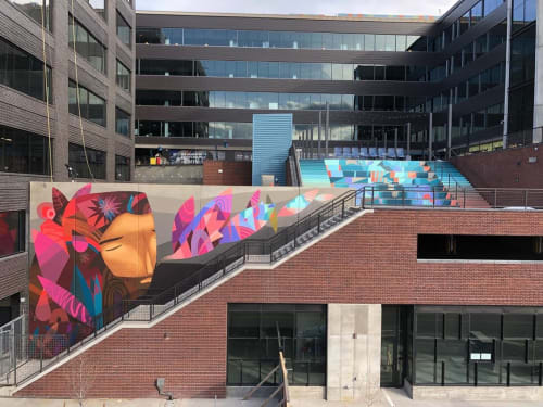 Street Murals by Jaime Molina seen at River North Art District, Denver - Mural