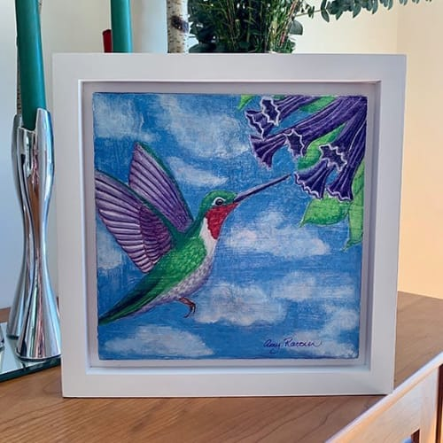 Paintings by Amy Rattner Art seen at Private Residence, Redwood City - Hummingbird II